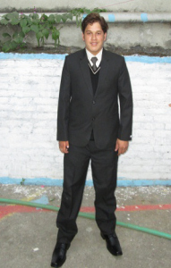 Manoj Khatri in university uniform