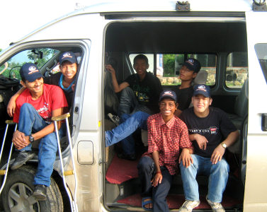 Mini van hired for trip to Lumbini