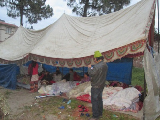 First Earthquake Tent With Tarp