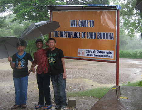 Entrance to Lumbini - Birthplace of the Buddha